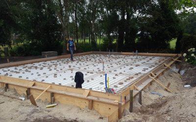 Storten betonvloer